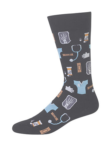 Hot Sox Medical Socks-BLACK-10
