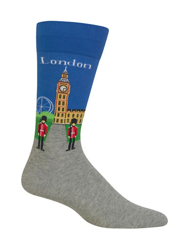 Hot Sox London Socks-BLUE-10