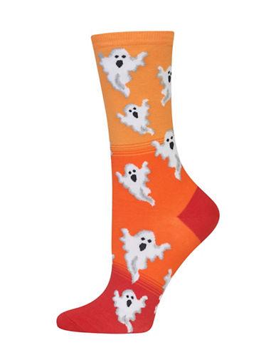 Hot Sox Ombre Ghost Pattern Socks-ORANGE-One Size 88513262_ORANGE_One Size