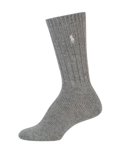 Lauren Ralph Lauren Hiker Slouch Boot Socks-GREY-One Size