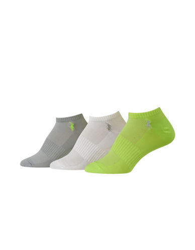 Polo Ralph Lauren Three-Pack Solid Low-Cut Arch Support Socks-YELLOW-One Size