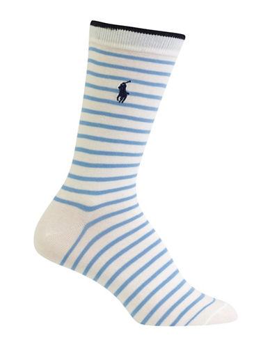 Polo Ralph Lauren Patterned Trouser Socks-BLUE-One Size