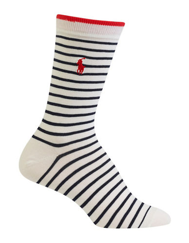 Polo Ralph Lauren Patterned Trouser Socks-RED-One Size