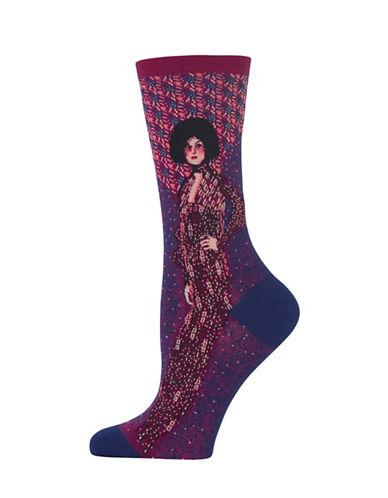 Hot Sox Portrait Of Emilie Floge Knitted Socks-BLUE-One Size