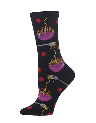 Hot Sox Meatballs Knitted Socks-BLACK-One Size 89234281_BLACK_One Size