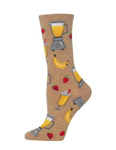 Hot Sox Smoothie Knitted Socks-BEIGE-One Size