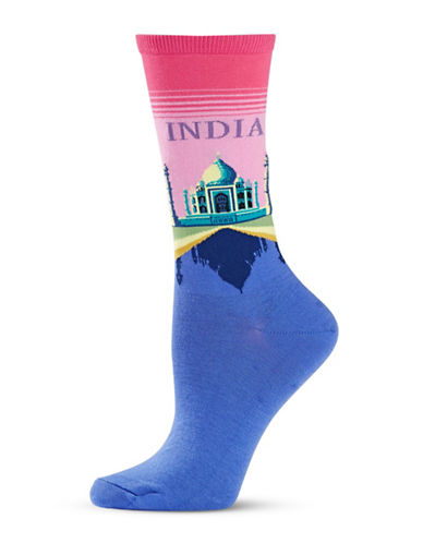 Hot Sox India Knitted Socks-PINK-One Size