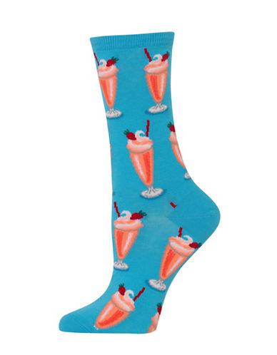 Hot Sox Milkshakes Knitted Socks-BLUE-One Size