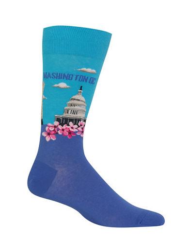Hot Sox Washington DC-Print Novelty Socks-LIGHT BLUE-10