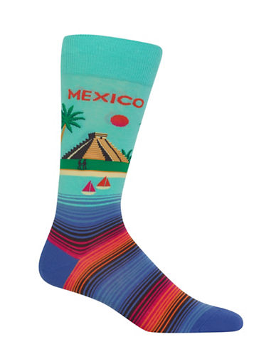 Hot Sox Mexico-Print Novelty Socks-MINT GREEN-10