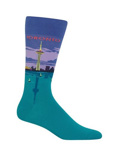 Hot Sox Toronto-Print Novelty Socks-BLUE-10