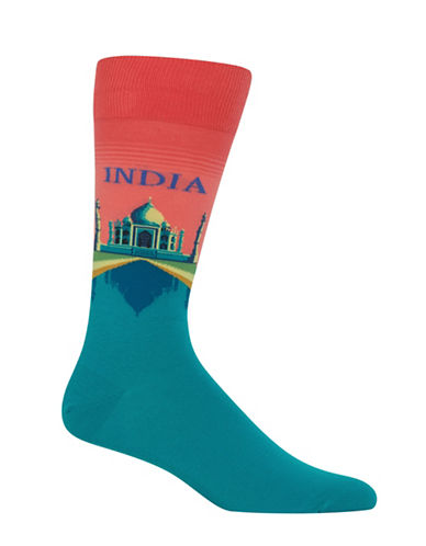 Hot Sox India-Print Novelty Socks-ORANGE-10