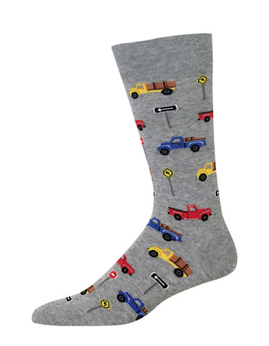 Hot Sox Pick Up Trucks Socks-GREY-10