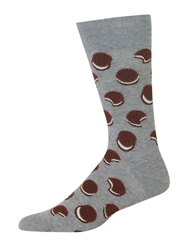 Hot Sox Sandwich Cookie Socks-GREY-10
