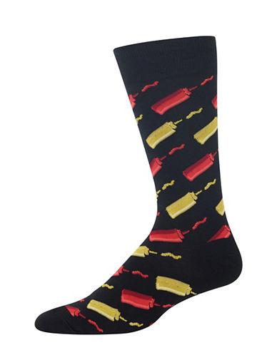 Hot Sox Ketchup and Mustard Socks-BLACK-10