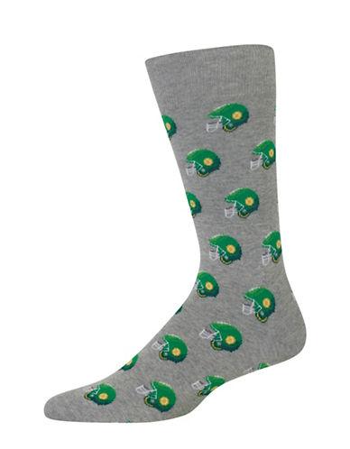 Hot Sox Football Helmet Socks-GREY-10