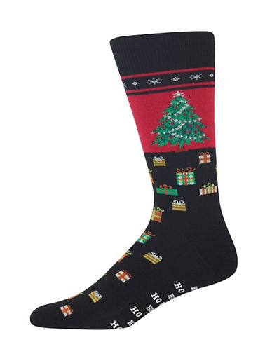 Hot Sox Christmas Tree Socks-BLACK-10