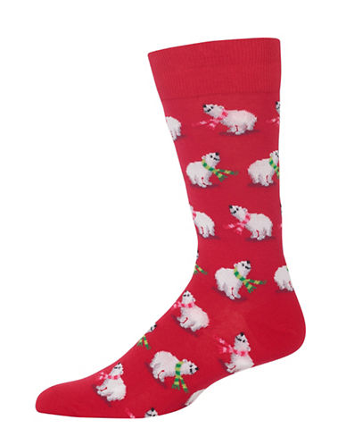 Hot Sox Polar Bears Socks-RED-10