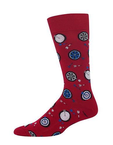 Hot Sox Dart Boards Socks-RED-10
