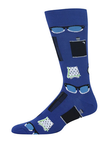 Hot Sox Men Accessories Socks-BLUE-10