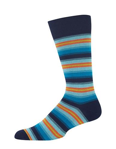 Hot Sox Ombre Multi Stripe Socks-NAVY-10