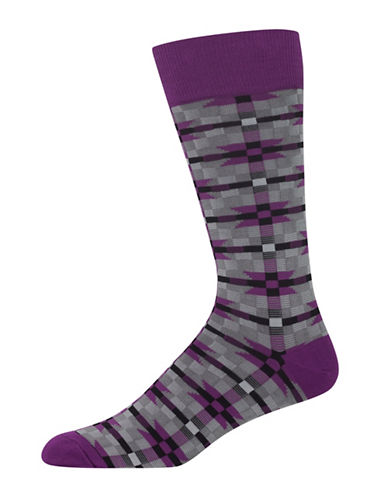 Hot Sox Tapestry Socks-PURPLE-10