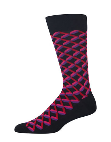 Hot Sox Shadow Geo Socks-BLACK-10