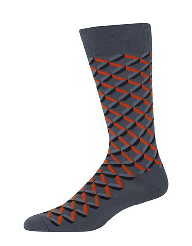Hot Sox Shadow Geo Socks-DARK GREY-10