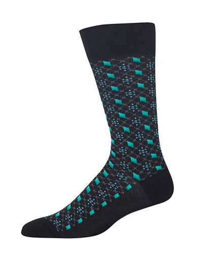 Hot Sox Ombre Diamond Socks-BLACK-10