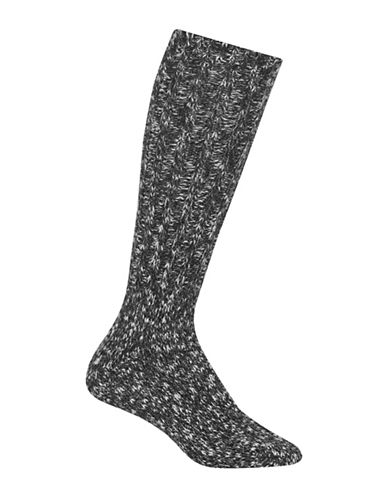 Polo Ralph Lauren Printed Boot Socks-BLACK-One Size