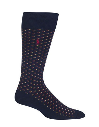 Polo Ralph Lauren Arrow Dot Dress Socks-NAVY-10