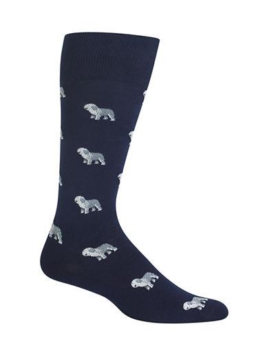 Polo Ralph Lauren Sheepdog Single Dress Socks-NAVY-10