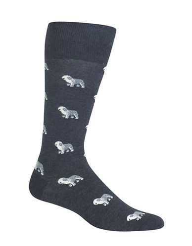 Polo Ralph Lauren Sheepdog Single Dress Socks-CHARCOAL-10
