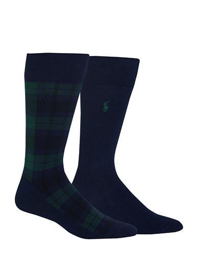 Polo Ralph Lauren Two-Pack Dress Socks Set-NAVY-10