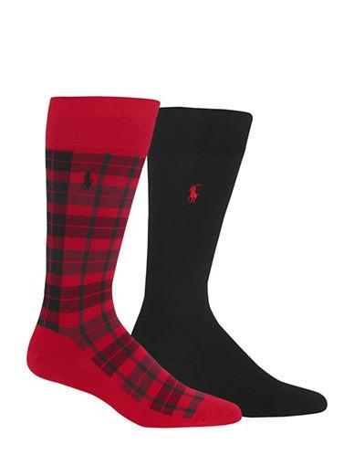 Polo Ralph Lauren Two-Pack Dress Socks Set-RED/NAVY-10