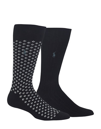 Polo Ralph Lauren Two-Pack Dress Socks Set-BLACK-10
