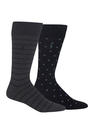 Polo Ralph Lauren Two-Pack St. James Street Backer Sport Socks-CHARCOAL-10