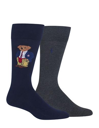Polo Ralph Lauren Two-Pack Preppy Bear Sport Socks-NAVY-10
