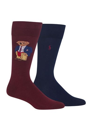 Polo Ralph Lauren Two-Pack Preppy Bear Sport Socks-PURPLE-10