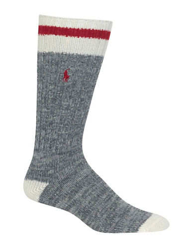 Polo Ralph Lauren Hiker Wool-Blend Dress Socks-GREY-10