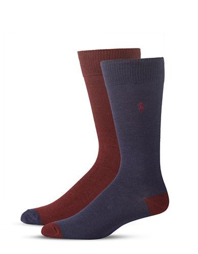 Polo Ralph Lauren Mens Two-Pack Mid-Calf Socks-NAVY-10