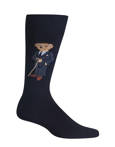 Polo Ralph Lauren Banker Bear Dress Socks-BLACK-10