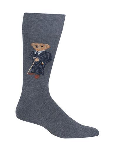 Polo Ralph Lauren Banker Bear Dress Socks-CHARCOAL-10