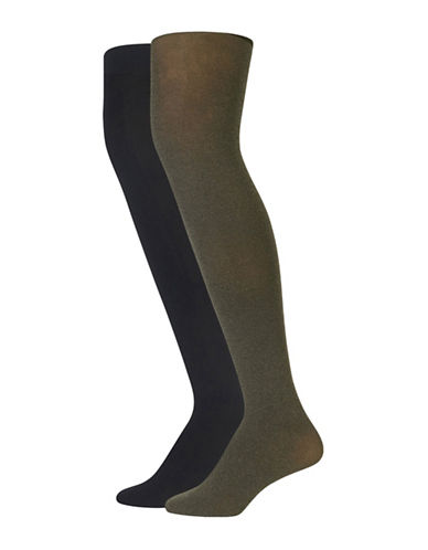 Polo Ralph Lauren Two-Pack Opaque Tights-GREY-Large