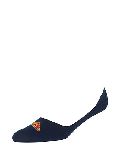 Hot Sox Mens Want A Pizza Me Liner Socks-NAVY-One Size 90041418_NAVY_One Size