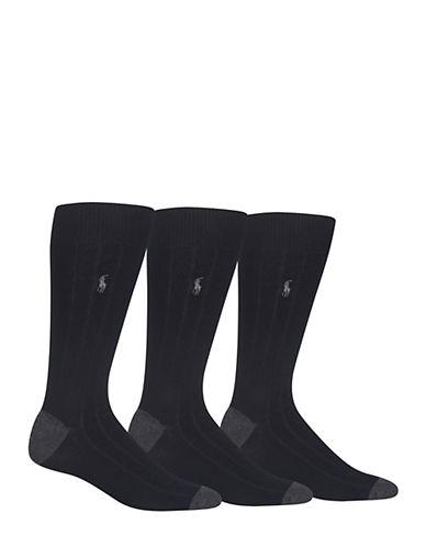Polo Ralph Lauren Mens Three-Pack Rib Crew Socks 83979510