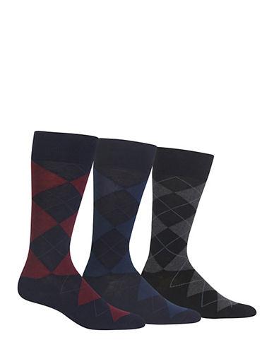 Polo Ralph Lauren Mens Three-Pack Argyle Socks-ASSORTED-7-12