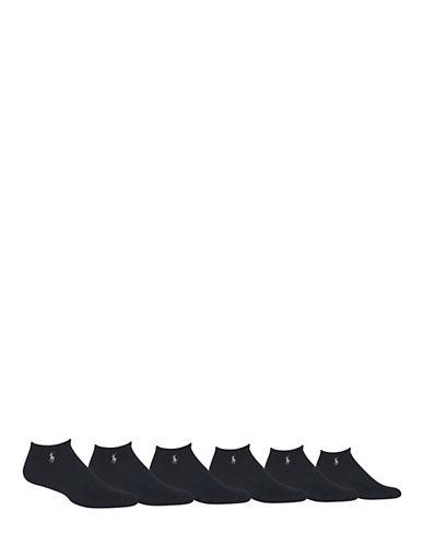 Polo Ralph Lauren Mens Six-Pack Classic Sport Socks-BLACK-7-12 85089159_BLACK_7-12