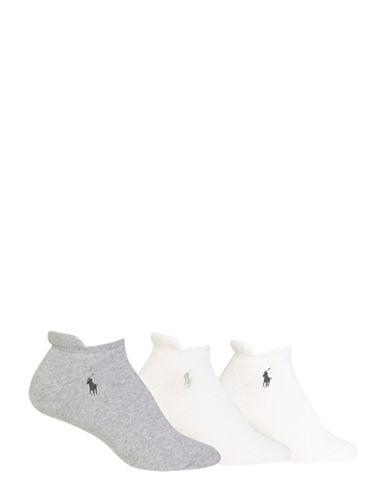 Ralph Lauren Three-Pack Full Cushion Socks-GREY/WHITE-One Size