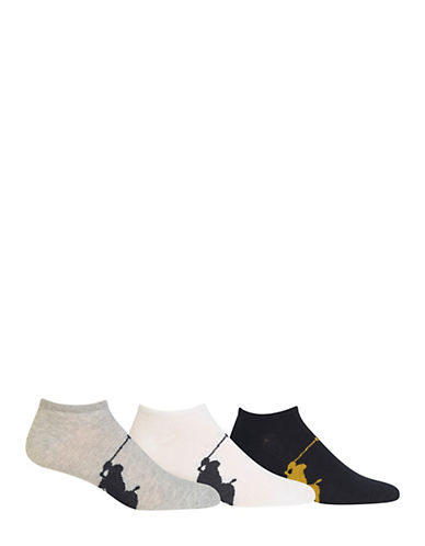 Polo Ralph Lauren Three-Pack Ankle Socks-ASSORTED-7-12
